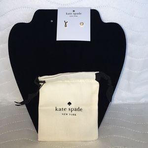 "NWT Kate Spade ♠️ ""J"" New York Stud Earrings"